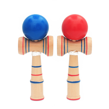 High Quality Baby Wooden Toys Kendama Toy Balls Blue Red Juggling Ball Sports Toys Outdoor Exercise Kids & Adult Christmas Gift