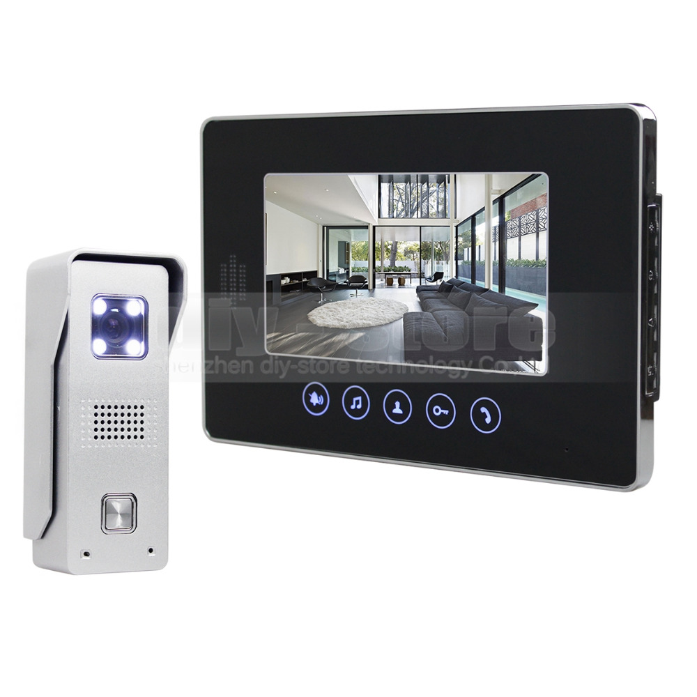 DIYSECUR 7 Wired Video Door Phone Doorbell Home Security Intercom System 1-In 1-Out