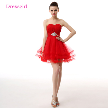 Red 2019 Homecoming Dresses A-line Sweetheart Short Mini Tulle Crystals Backless Elegant Cocktail Dresses