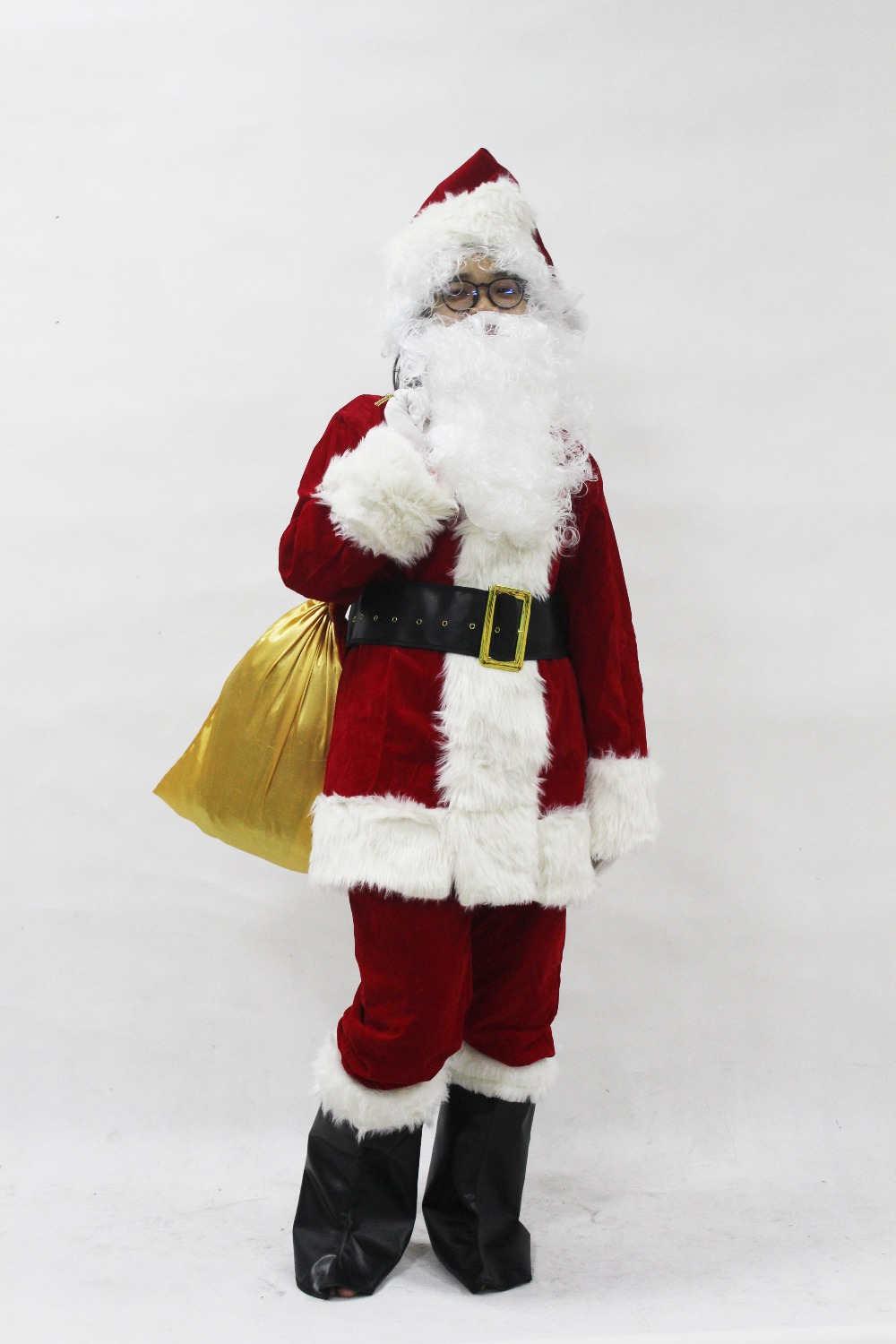 In adult santa claus costume christmas funny