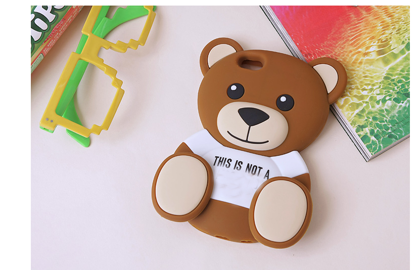 Cute 3D Teddy Silicone Soft Mobile Phone Back Case Cover Samsung Galaxy A3 A5 A7 A8 E5 E7 J5 J7  -  Tianwei technology store