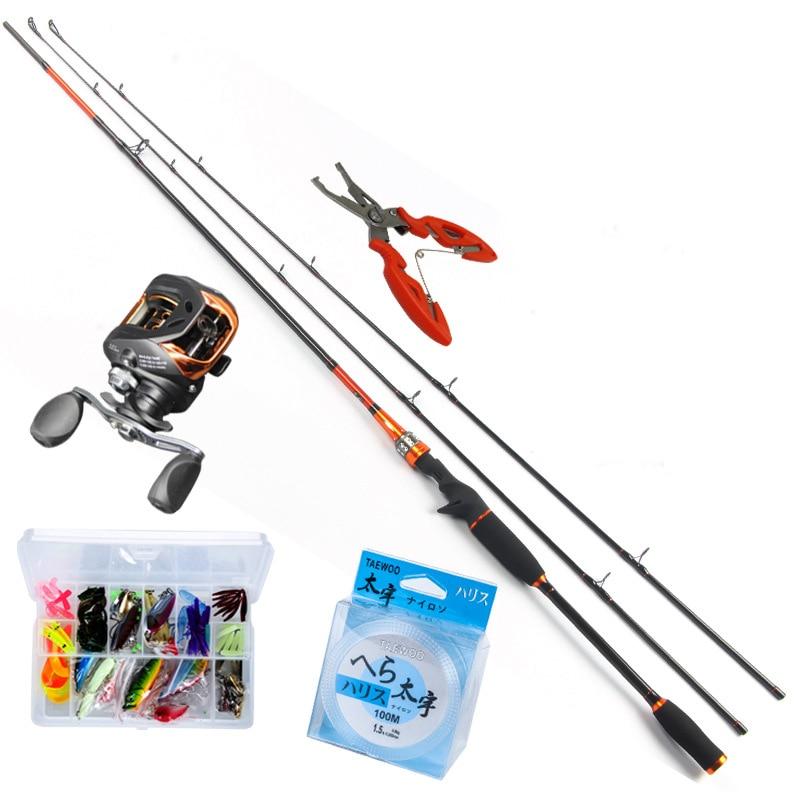 ANZHENJI 2.1M Casting Rod Fishing Rod Light BaitCasting Fishing Reel + 2.1M BaitCasting Lure Fishing Rod Combo Peche