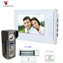 Yobang Security Freeship 7Inch Monitor Video Door Phone Intercom Door bell Unlocking Video Intercom Doorbell phone Intercom