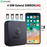 GlocalMe Multi 4 SIM Dual Standby No Roaming 4G SIMBOX SIM Remote Router ,No Need Carry ,work with WiFi / Data to Make Call &SMS