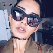 цена на Newest Vintage Sunglasses Women Cat Eye Brand Designer Elegant Sunglasses Pink Mirror Lens Fashion Female Sun Glasses UV400