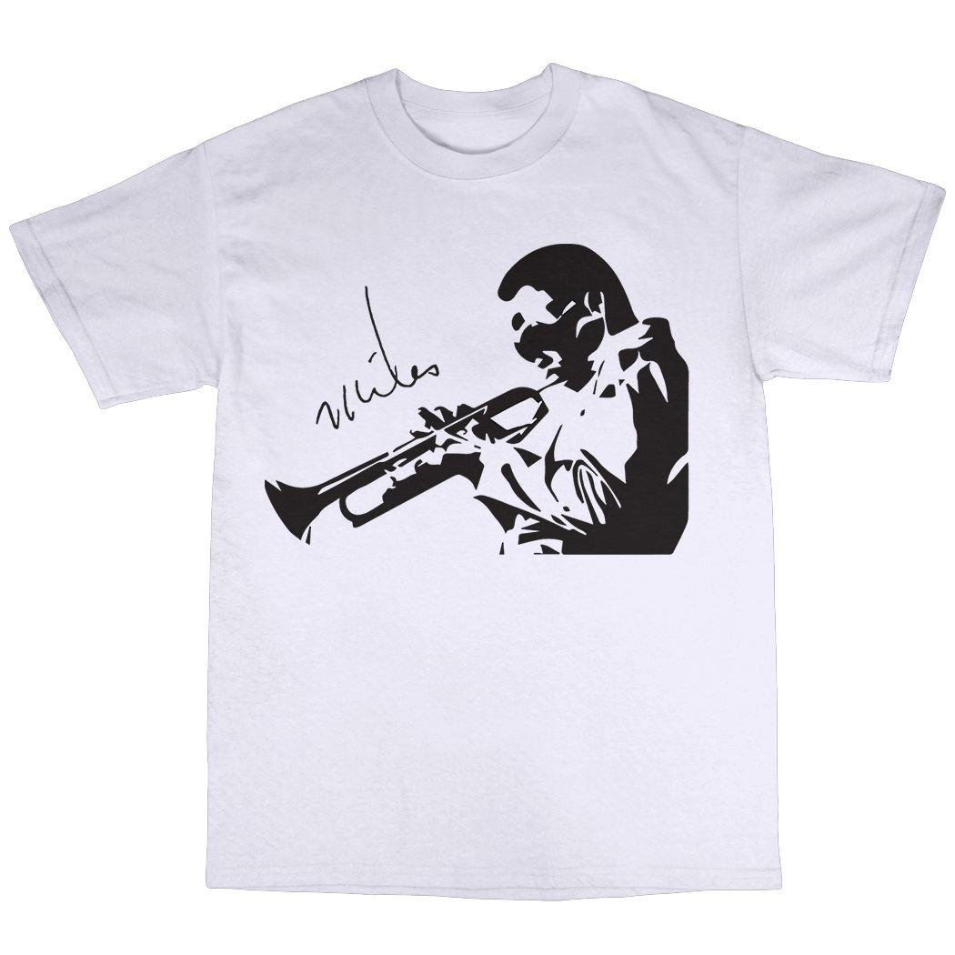2017 marke T-shirt Mode Oansatz Baumwolle Kurzarm Herren Miles Davis Bitches Brauen...
