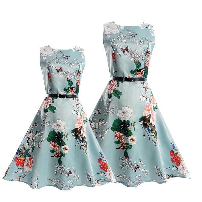 Trouwjurk voor meisjes Mom dochter jurken Zomer feestkleding Familie - Kinderkleding - Foto 3