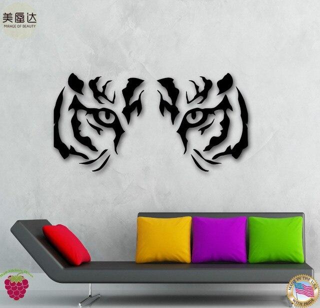 Wall Stickers Vinyl Decal Animal Tiger Raptor Tribal Eyes Wall Decor Mural