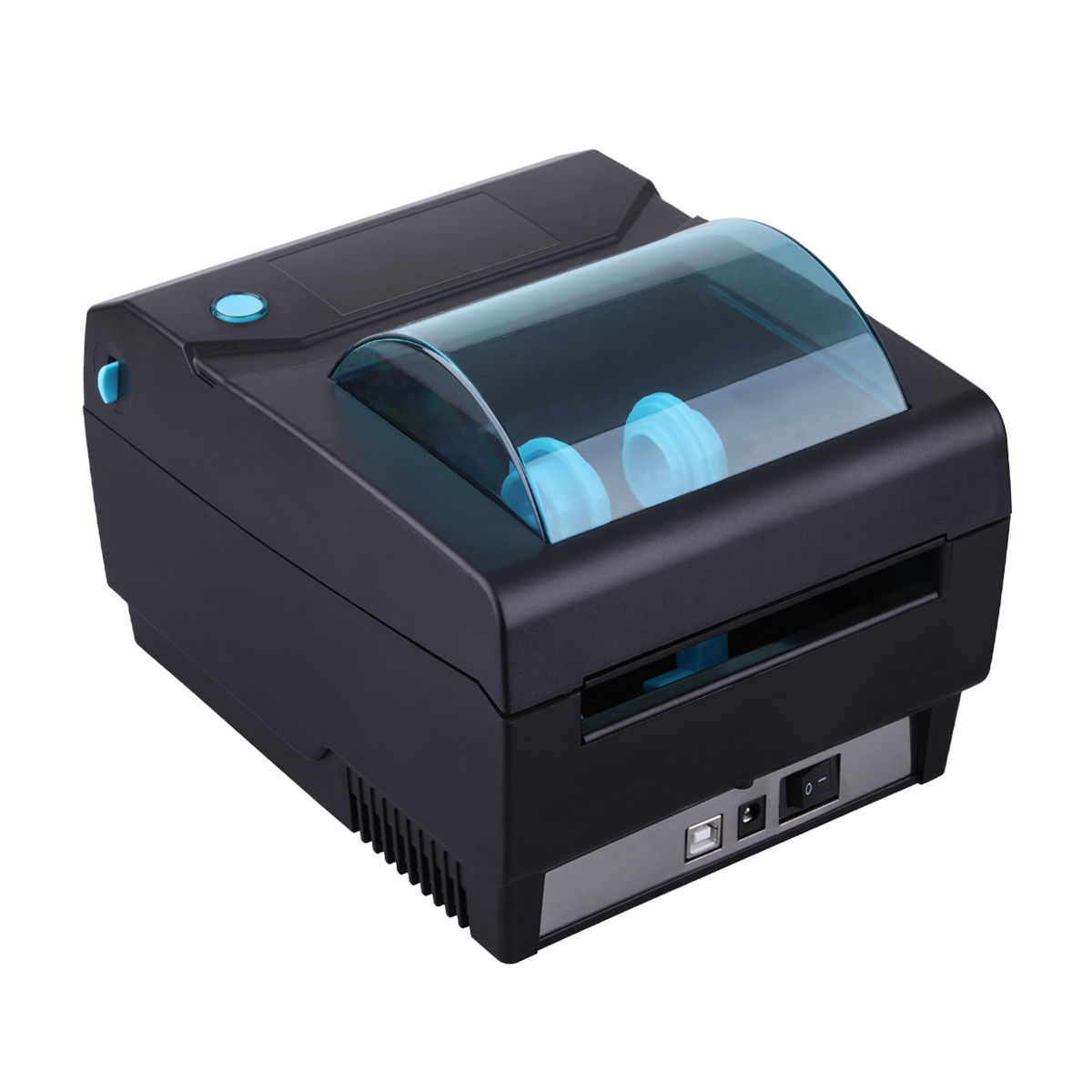 Newest Cheap Office Supplies Black 108mm USB Thermal Barcode Printer with Label Paper Auto Detection image