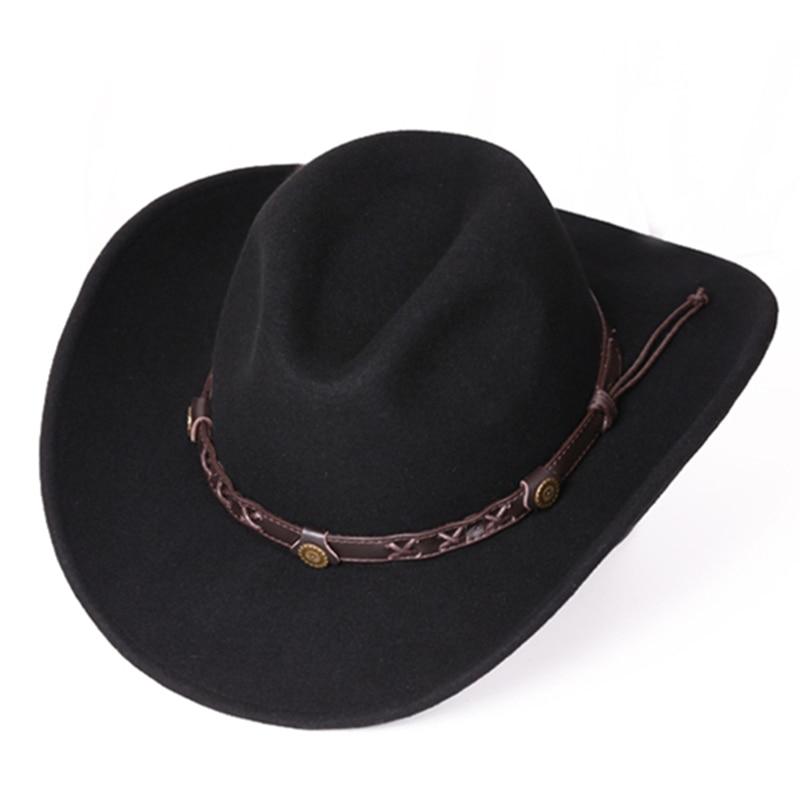51157479166a4 Unisex Warm Comfortable Dakota Crushable Wool Felt Western Cowboy Casual Hat  -in Cowboy Hats from Apparel Accessories on Aliexpress.com
