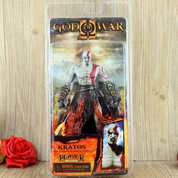 GZTZMY NECA God of War 2 Figures Kratos Action Figure Kratos in Golden Fleece Armor with Medusa Head Toy for kids gifts (8)