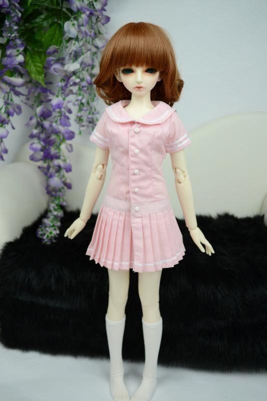 [wamami] 249# Light Pink Uniform Dress/Suit/Outfit 1/4 MSD AOD DOD DZ BJD Dollfie handsome grey woolen coat belt for bjd 1 3 sd10 sd13 sd17 uncle ssdf sd luts dod dz as doll clothes cmb107