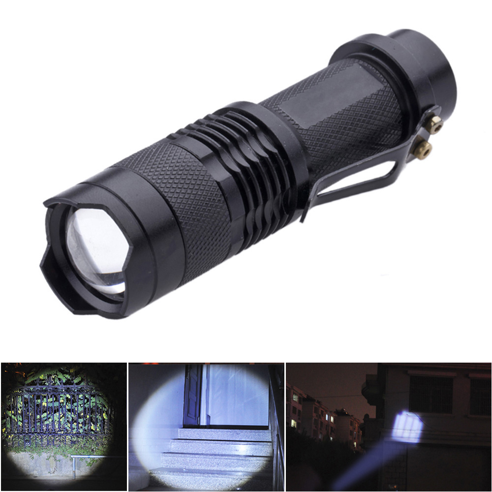 Mini Zoomable Flashlight Torch 300LM Aluminum alloy