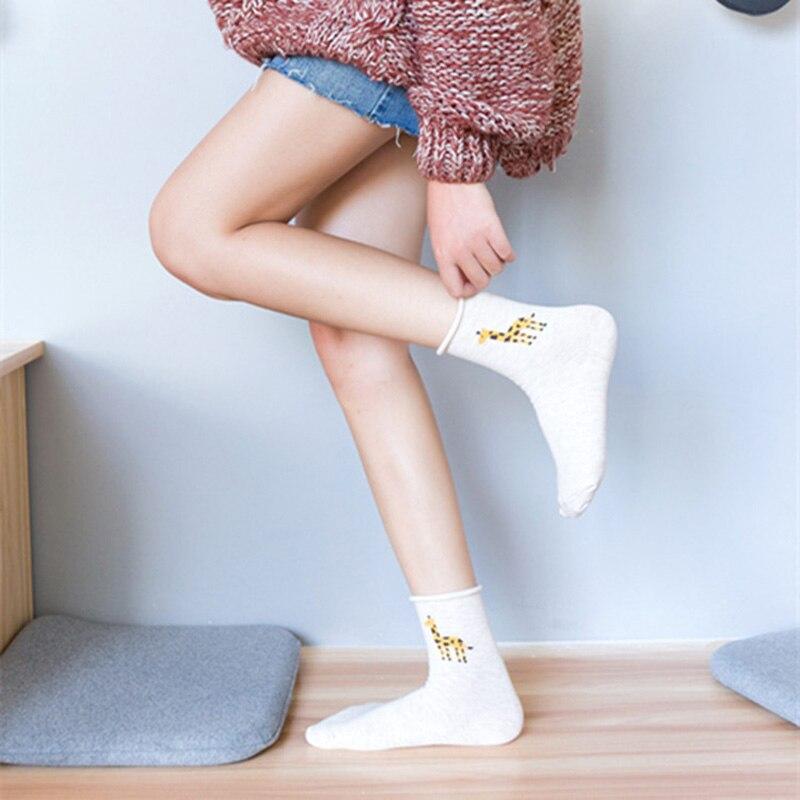 Women-Cotton-Socks-2018-New-Fashion-All-seasons-Cartoon-Flamingo-Pattern-For-Ladies-Trend-Harajuku-Loose(2)
