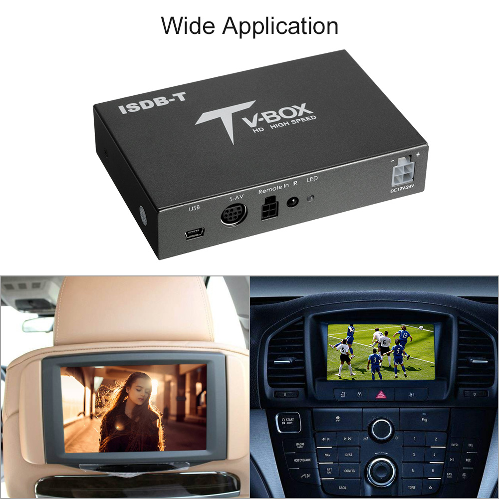 Car digital tv box hd isdb full seg receiver isdb t mini for 4 box auto