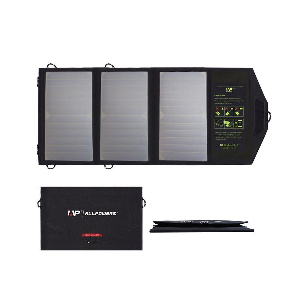 Chargeur de panneau solaire ALLPOWER chargeur de téléphone solaire 5 V pour iPhone 6 6 s 7 8 iPhone X Xr Xs Xsmax iPad mini iPad air Samsung LG Sony.
