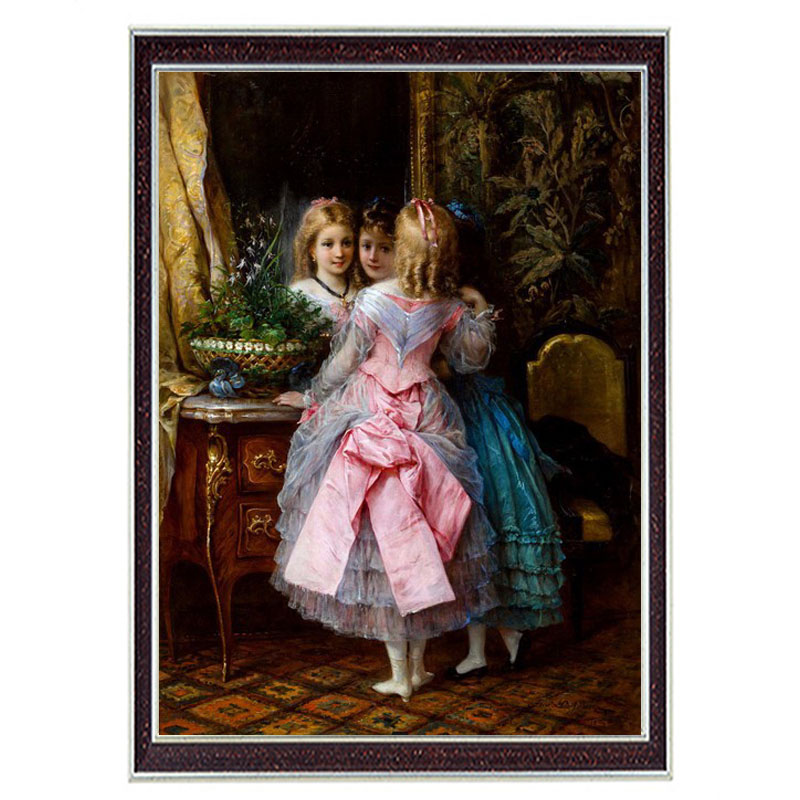 Needlework Crafts 14CT unprinted Embroidery French DMC Quality Counted Cross Stitch Kits Oil Girl Dance