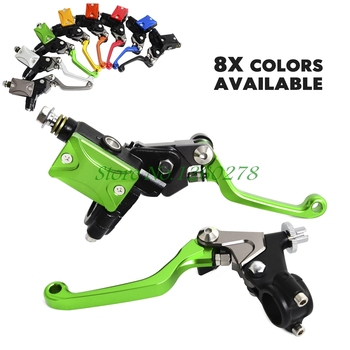 """Motorcycle 7/8""""Hydraulic Brake & Cable Clutch Lever Set Assembly For Kawasaki KX 65 85 125 250 KLX125 250 450"""