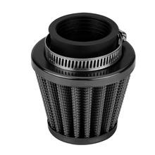 38mm filtr powietrza z zaciskiem zestaw indukcyjny do Off-motocykl szosoway atv quad Dirt pitbike czarny tanie tanio Metal Cloth Plastic