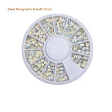 1 круг 3 мм/квадратные шпильки/голографическое искусство ногтей