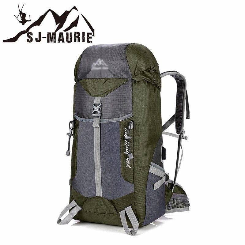 Sj-maurie homme et femmes imperméable escalade randonnée sac à dos housse de pluie sac Camping alpinisme sac à dos Sport plein air sac