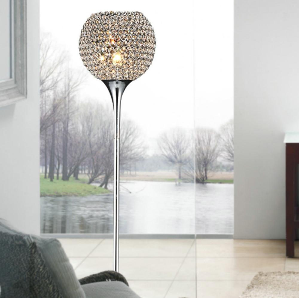 Modern crystal floor lamp - Modern Crystal Floor Lamp Suppore Led E27 Sconce Crystal Lamps Foyer Lamps Shade Home Decor Luminaire