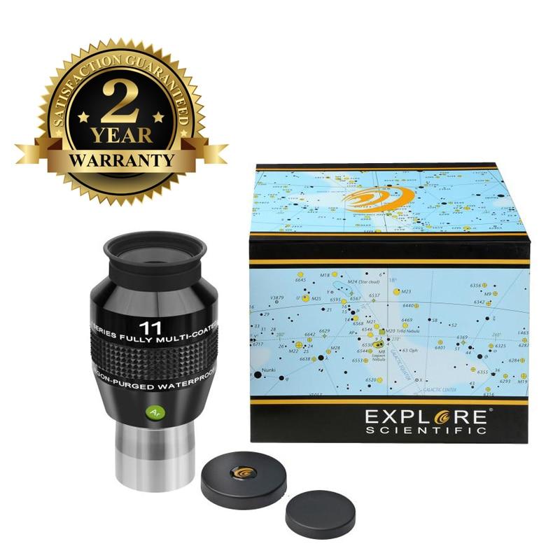 New Explore Scientific Eyepiece 82 Degree Extreme Wide Field Waterproof 1.25inch 11mm Argon-Purged EMD Coatings
