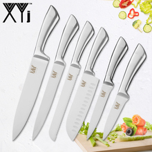 XYj Kitchen Cooking Knives Paring Utility Santoku Chef Slicing Bread Stainless Steel Fruit Meat Tools Accessories