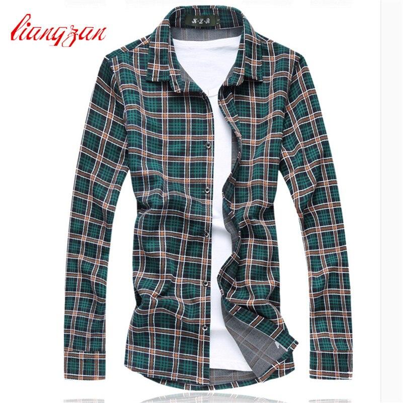 d39f2539644c52d Для мужчин хлопковые рубашки в клетку брендовая Дизайн плюс Размеры 5XL 6XL  7XL Slim Fit осень-весна с длинным рукавом платье рубашка CHEMISE Homme  f2304