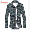 Men Cotton Plaid Shirts Brand Design Plus Size 5XL 6XL 7XL Slim Fit Autumn Spring long Sleeve Dress Shirt Chemise Homme F2304