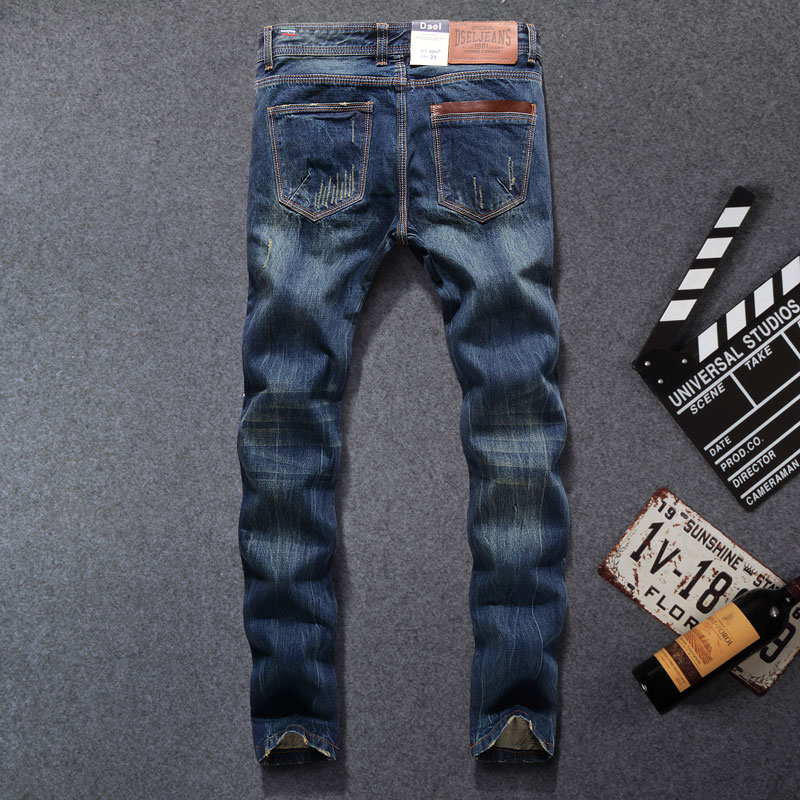 4e7fe8a3 2017 Top Quality Hot Sale Fashion Dsel Brand Men Jeans Straight Fit Italian  Designer Distressed Ripped Jeans For Men,5001 B-in Jeans from Men's  Clothing ...