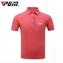 T-Shirt Short-Sleeve Pgm Golf Summer Boys for Children Breathable Teenager Quick-Dry