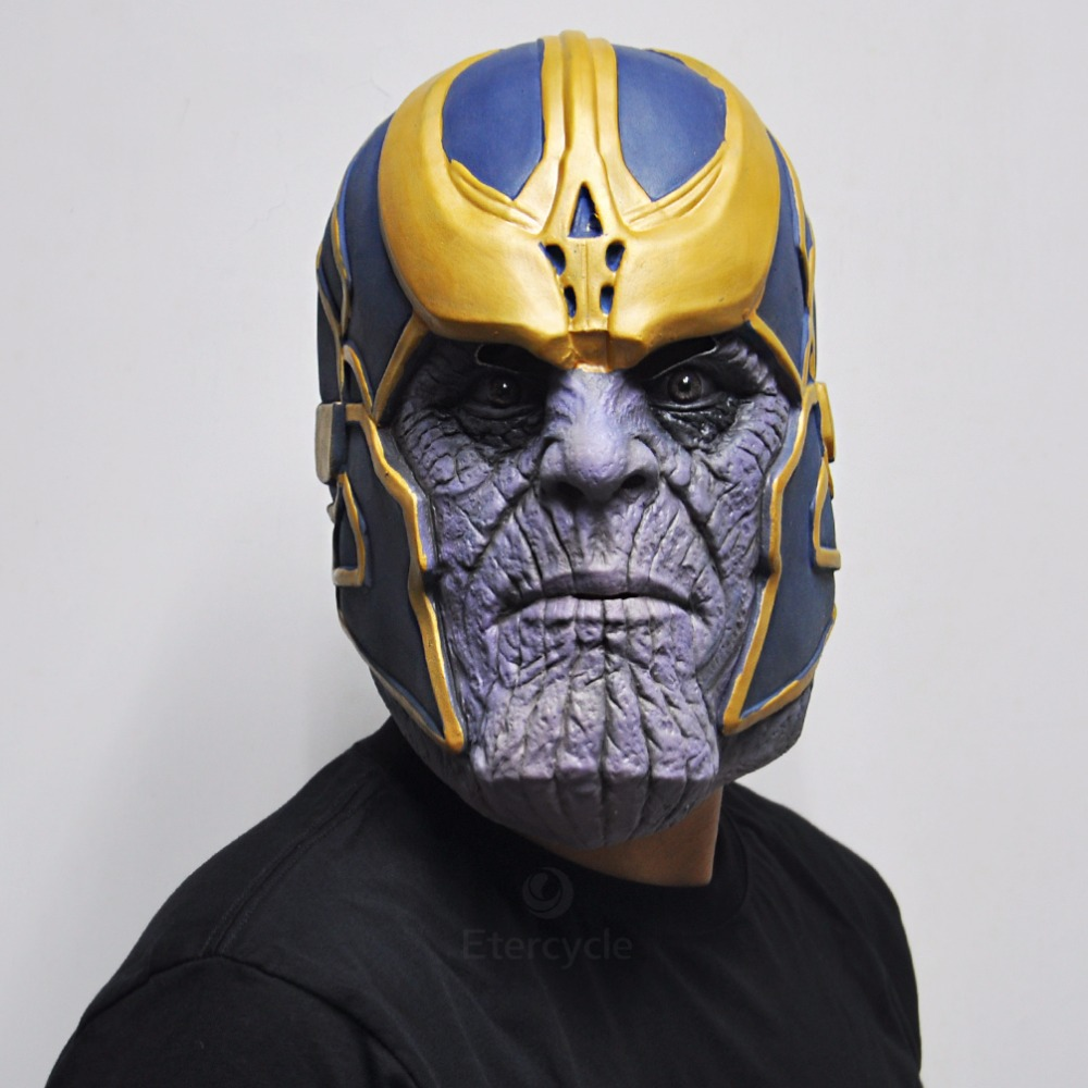The Thanos Masks Avengers Movie Cosplay Halloween Costume Props in Party Masks from Home Garden