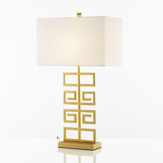 Modern new chinese fabric gold table lamps bar coffee bedside modern new chinese fabric gold table lamps bar coffee bedside bedroom hotel engineering decoration lighting fixture aloadofball Images