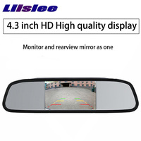 LiisLee Car Parking Assistance System 4.3 Inc TFT LCD Car Reverse Mirror Rearview Monitor