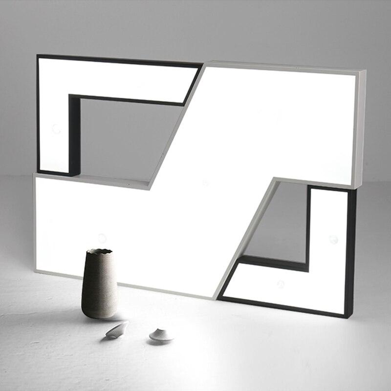 NEO Gleam Rectangle Living Room Bedroom Modern Led Ceiling Lights Luminarias Para Sala White Black Color