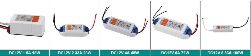 10pcs 2018 NEW 10pcs/lot LED Driver Power Supply Transformer AC90-240V DC12V 100W 72W 48W 28W 18W 10pcs adc574ajp new