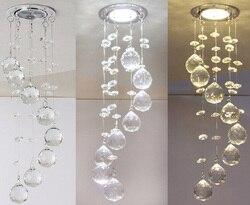 Breve mini luz de teto de cristal k9 de cristal decorativo quarto lâmpada do teto de cristal escovado iluminação do teto lustre 110-240 v