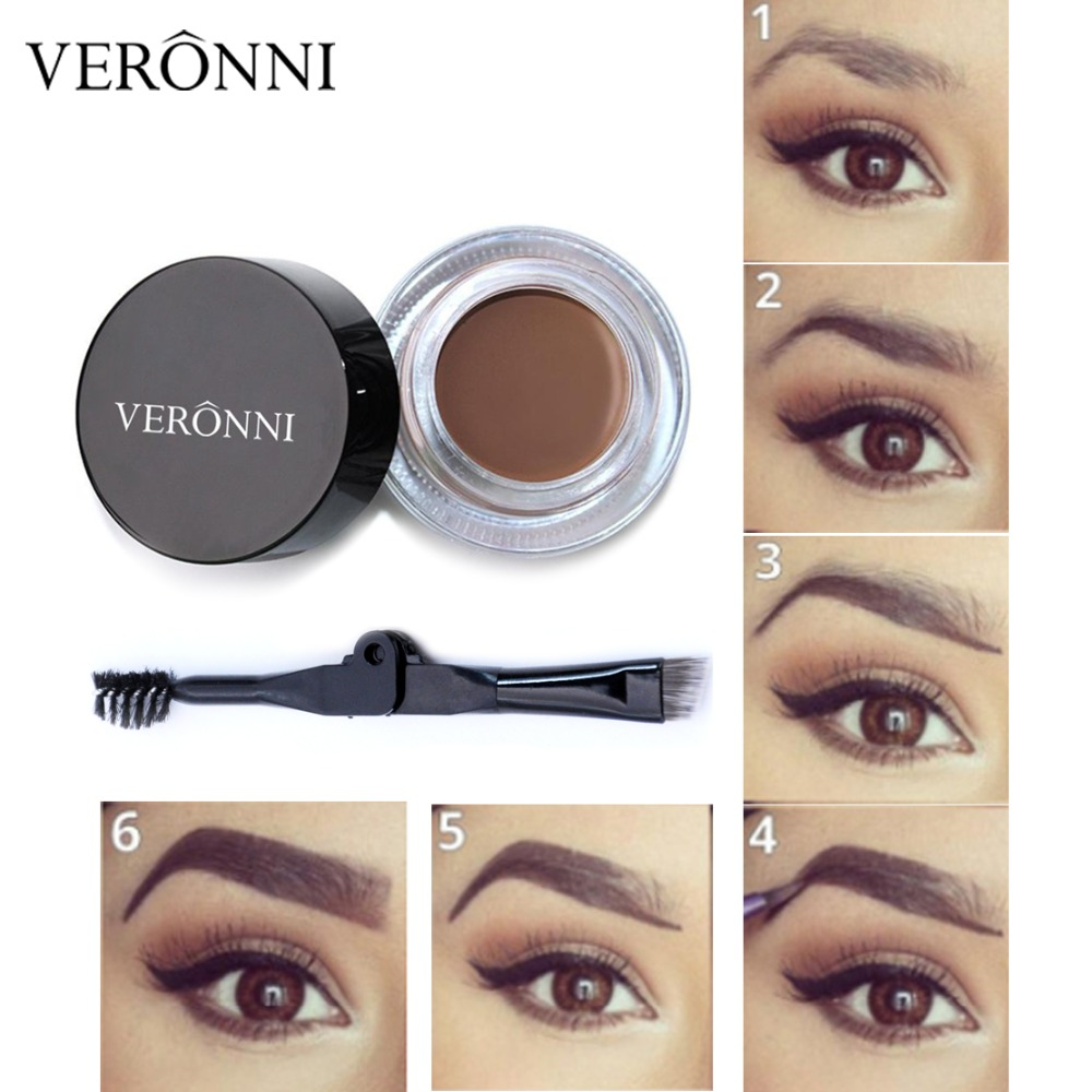 706f66dce VERONNI New Arrivals Professional Eyebrow Gel 6 Colors High Brow Tint  Makeup Eyebrow Brown Eyebrow Gel With Brow Brush Tools