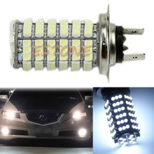 New White H7 3528 120-LED SMD Car Head Fog Bright Light Bulb High Power 6000K