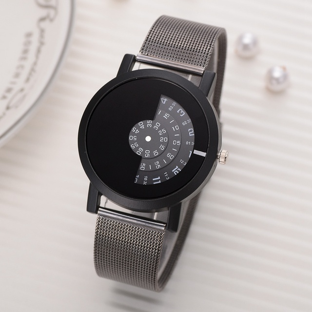 Relogio Feminino Top Brand Men Watches Fashion Stainless Steel Analog Quartz Wrist Watch Lady Luxury Mesh Band Bracelet Watch