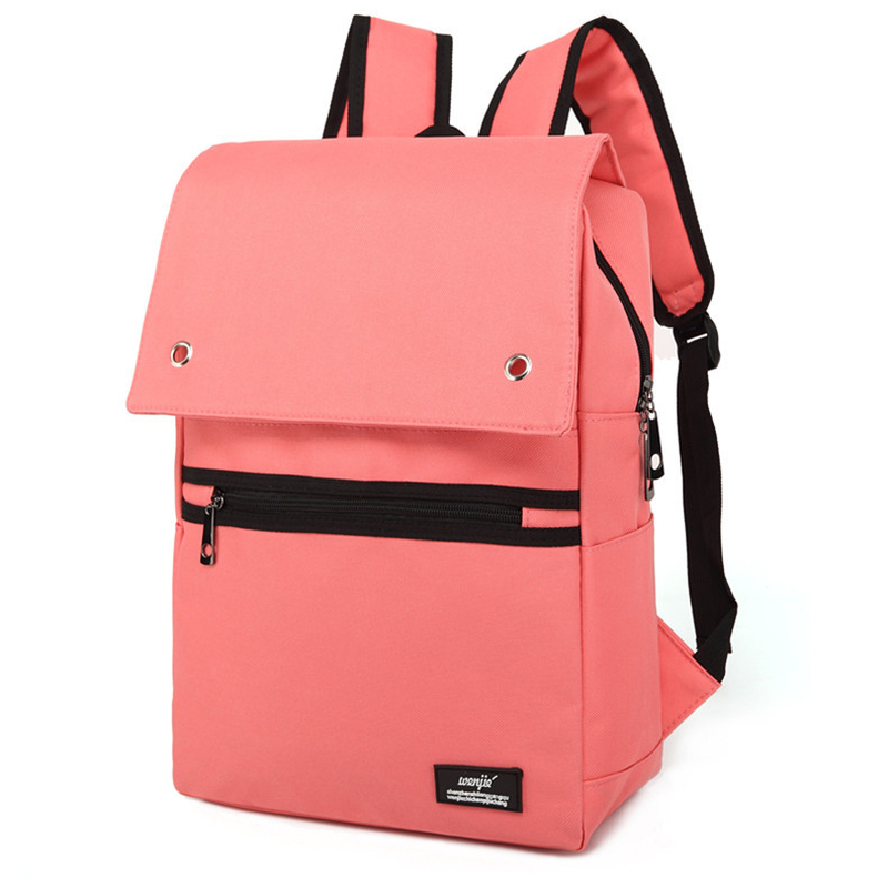 Fashion Canvas Bag Backpack Women Leisure Travel Rucksacks for Girls Teenager Cool Contrast Color Preppy Student School Bag