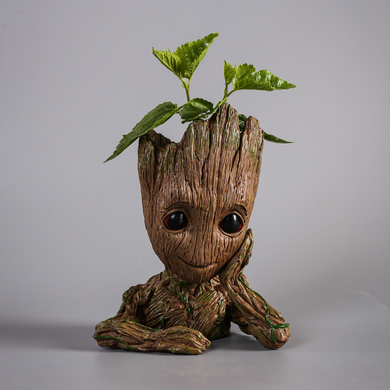 Guardians of The Galaxy Flowerpot Tree Action Figures Cute Model Toy Pen Pot Movie Figure Gifts For Kids lol Dolls Decoration