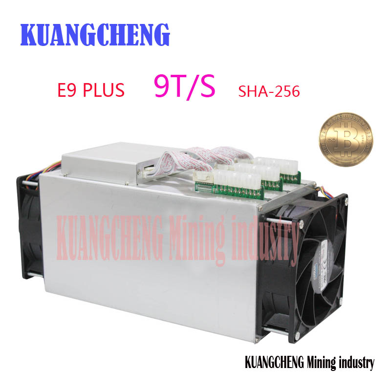 Bitcoin Miner Ebit E9 Plus 9T 14nm Asic Miner BTC Miner (with psu) better than Antminer S7 and high Cost-effectiv than S9 spot goods antminer s5 1155 gh s asic miner bitcon miner 28nm btc mining sha 256 miner power consumption 590w