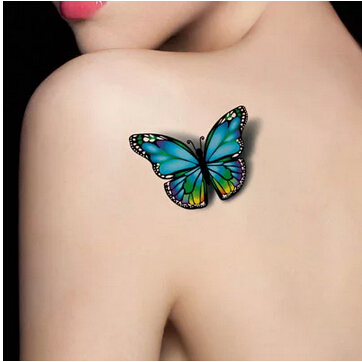 Realiste 3d Sexy Tatouage Autocollants Impermeables Couleur Papillon
