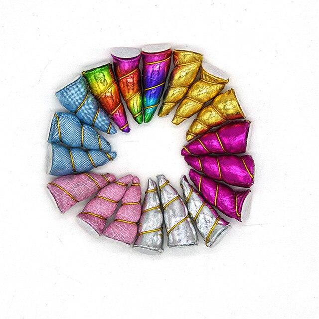 1a9331d97ca 50 PCS  lot DIY Glitter Metallic Unicorn Horn Party creative toys DIY Hair  Accessories Wholesale