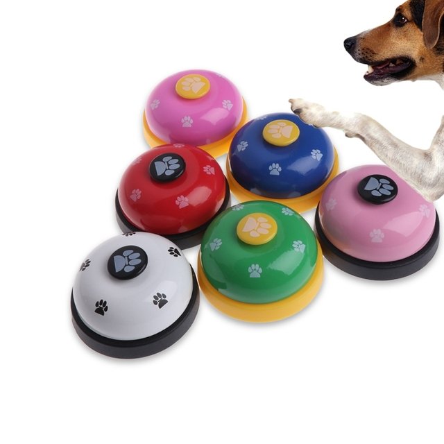 Pet Training Bell Dogs Footprint Puppy Cats Dinner Feeding Door Ring Interactive