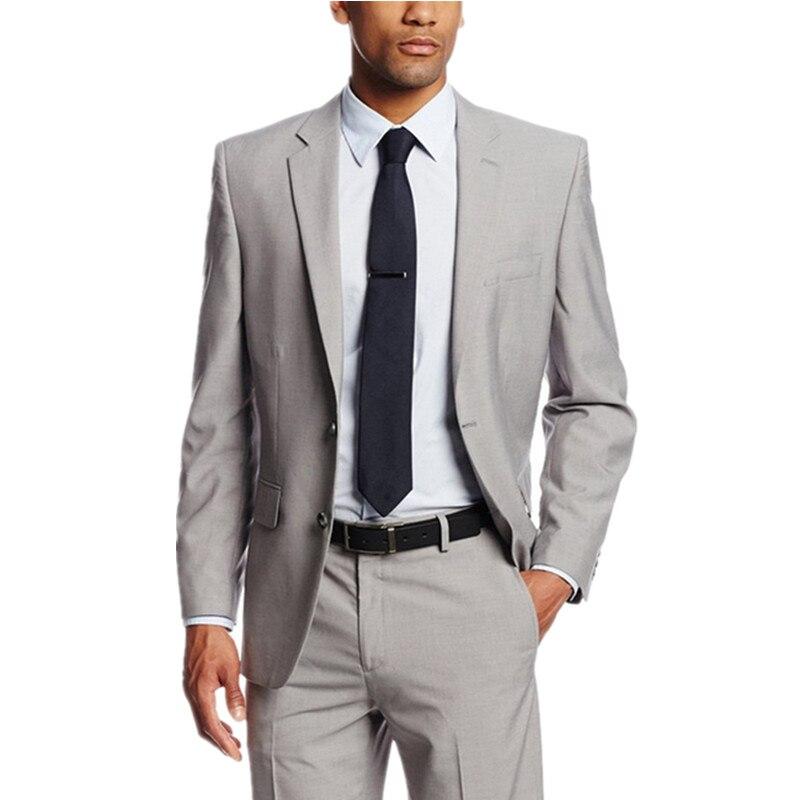 194 (1) 2017 Hot Men Wedding Suits Grooms Tuxedos Mens Suits Slim Fit Beach Groomsmen Suits (Jacket+Pants)