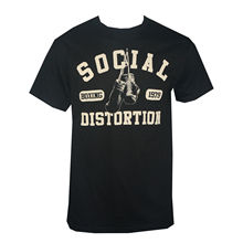 Authentic SOCIAL DISTORTION Boxinger Gloves  Logo T-Shirt S NEW Print T Shirt Summer Style Hot Tee Shirts