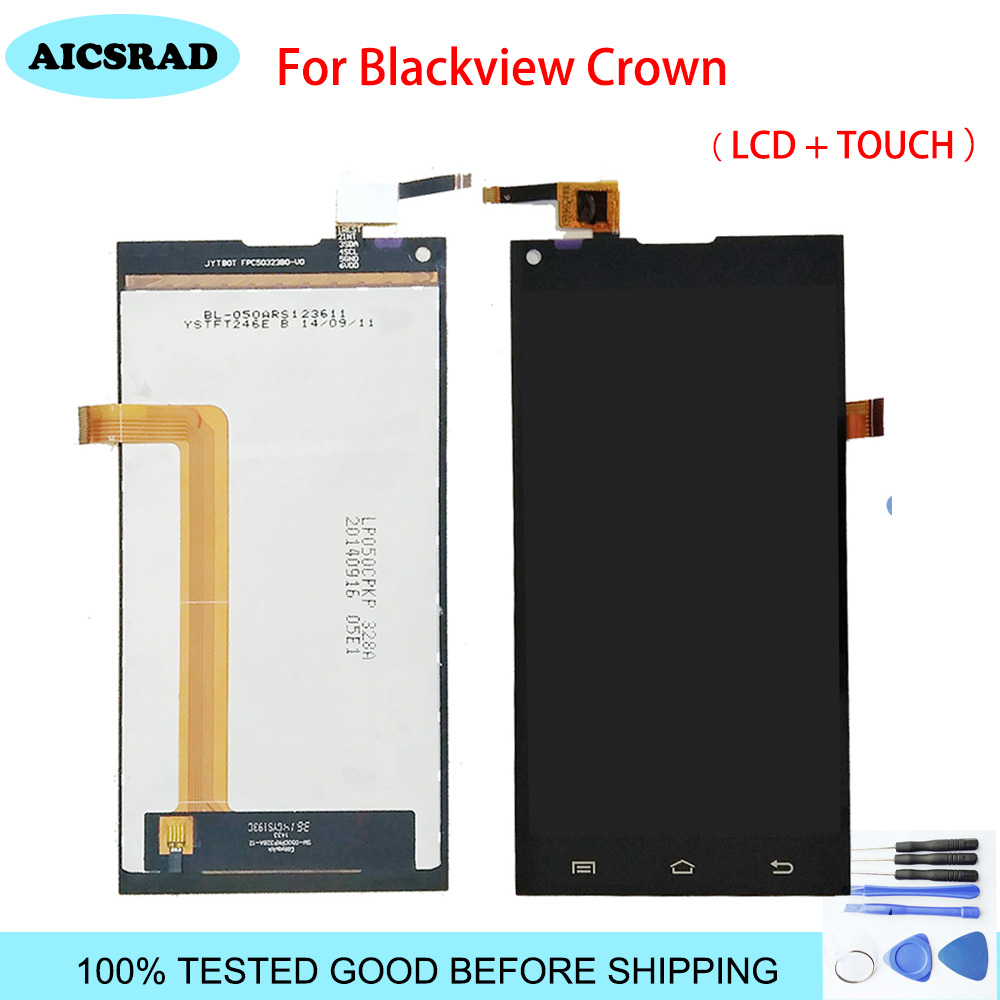 100% NEW Original AICSRAD For Blackview Crown LCD Screen Display +Touch Panel Touchscreen Assembly Replacement+tools